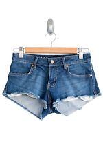 Lee Blue Denim Short Shorts Preloved - Size 6