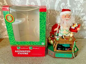 Vintage Telco Motionettes Christmas Animated Musical Light Up Santa Toy Workshop