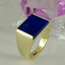 Herren-Ringe im Siegel-Stil aus Gelbgold