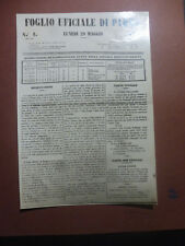 ARCHIVIO FOTO VAGHI - PARMA GAZZETTA 1848 - GOVERNO PROVVISORIO