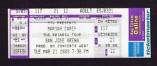 2000 Mariah Carey Unused Full Concert Ticket San Jose Arena CA The Rainbow Tour