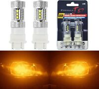 LED Light 80W 3157 Amber Orange Two Bulbs Front Turn Signal Replacement Upgrade