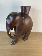 Small Elephant Dark Wooden Side Table base. - base only 33cm