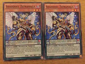 2 X Shaddoll Zefranaga Yugioh Trading Card CROS-EN022