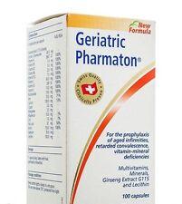 GERIATRIC PHARMATON 100 capsules Multi vitamin and Mineral