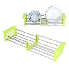 Retractable Sink Strainer Basket Dish Drainer Rack Storage Tool for Home Kitchen