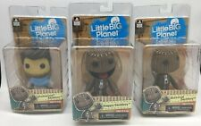 "3 x SACKBOY 7"" ACTION FIGURES Happy, Quizzical, Drake Brand New LittleBigPlanet"