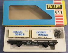Faller Ams 443 Vagone con Container Scatola Originale RAR