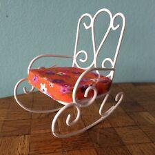 Schaukelstuhl Garten Stuhl Bodo Hennig 60/70er Puppenstube Puppenhaus 1:12 chair