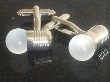 SILVER GLASS CUFFLINKS ELECTRICIAN  LIGHTBULB QUALITY TOOL DIY CUFFLINKS