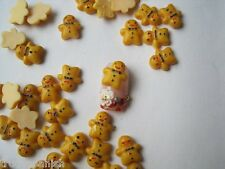 Christmas 3D Nail Art Decoration Mini Gingerbread Men Cabochons Kawaii Cardmakin