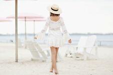 5258 New $298 Free People Pippa Crochet Fit and Flare Gauze Tunic Dress XS 4