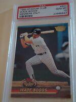 1993 Stadium Club NY Yankees Wade Boggs Members Only Card # 601 PSA GEM MT 10