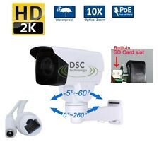 Rotary 1440P Outdoor Bullet PTZ IP Camera With POE,Card Slot 4.0MP 10X Zoom, IR