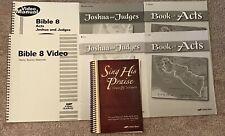 A Beka Abeka 8 Bible Joshua & Judges Student Tests & Keys Video Manual Hymns Lot