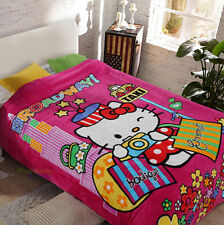"""Super Cute For Hello Kitty Supersoft Plush Bedroom Blanket Throw Cover 59""""x78"""""""