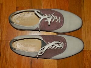 COLE HAAN Ivory and Brown Suede Saddle Shoes Oxfords - 9.5 D - NEW