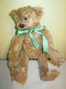 Gallery Teddy Bears/Ashton-Drake: Barbara Ferrier 2000 Green Bow
