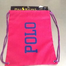 Polo by Ralph Lauren Drawstring Cinch Sack Backpack. Pink. With Tags 602ad96acdaa9
