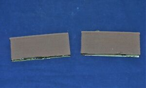 N Scale 2 Piece Cut Stone Retaining Walls Painted Brown