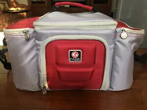 6 Six Pack Fitness Meal Prep/Management Red Travel Gym Bag