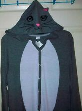 The Cat's Meow Kitty Hooded Non Footed Pajamas Costume 1 Piece NWT M LAST ONE