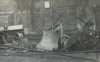 ORIGINAL WW1 FRENCH CHURCH BELLS BEING RECYCLED INTO GUNS PHOTO POSTCARD RPPC