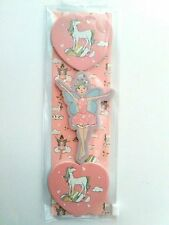 BNWT Novelty 3 x  Fairy & Unicorns Nail Files Emery Boards Set Gift Girls Pink