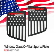 C Pillar Window Sports Plate Red Logo American Flag For JEEP 2015-2019 Renegade