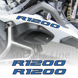 Adesivi BMW R1200 GS Adventure scritte adesive R1200 Becco Anteriore Blu Nero