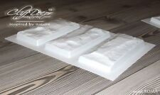 ● 10 TRIPLE plastic molds *ROMA* for concrete veneer wall stone stackstone tiles