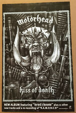 MOTORHEAD Rare 2006 PROMO POSTER of Kiss of Death CD MINT USA 11x17 Ramones