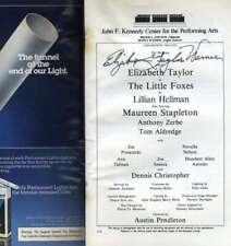 Elizabeth Taylor Psa Dna Coa Hand Signed Kennedy Center Playbill Autograph