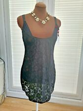 BNWT MAGISCULPT SHAPEWEAR DRESS 20 WEAR YOUR OWN BRA BLACK ROSE LACE
