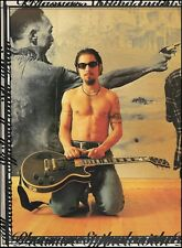 Dave Navarro with Gibson Les Paul Guitar & nipple ring 8 x 11 color pinup photo