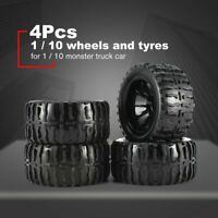 4Pcs 119mm Wheel Rim Tires for 1/10 Monster Truck Racing RC Car Accessories
