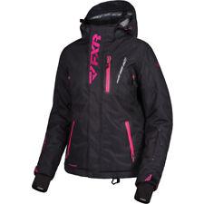 FXR Women Pulse Snowmobile Jacket 16-Blk Heather/Fuchsia-10 Closeout