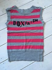 Ladies Pink Striped Top By Boxfresh Size XS  Summer Vest Sleeveless Tshirt
