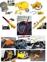 New Heavy Duty Steering Wheel Hand Brake Caravan Car Van Coupling Security Locks
