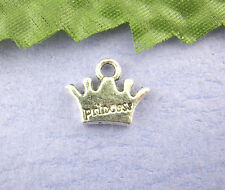 10 Pcs Princess Crown Beads Charms Pendants Findings10x13mm LC1567