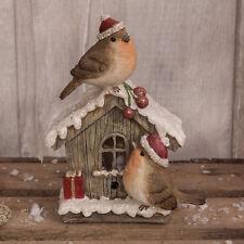 Christmas Robins On Postbox Bird Christmas Decoration Ornament