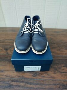 Cole Haan Grand Chukka Leather Boots Navy 11.5 M C20318
