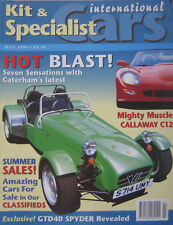 Kit & Specialist Cars magazine 07/1999 featuring Caterham, Callaway Corvette