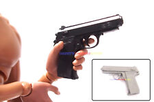 "1 x New 1/6 Scale PPK Hand Gun (Black or Grey) For 12"" Action Figure SWAT"