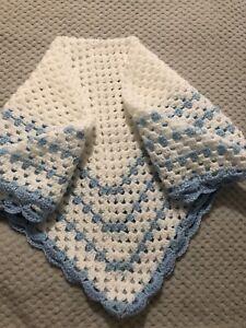 Hand Crocheted Baby Boys Blanket