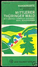 Wanderkarte, Mittlerer Thüringer Wald, 1978