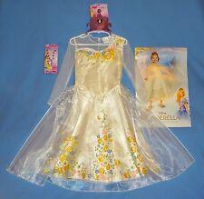 DISNEY CINDERELLA Princess Wedding Costume Dress-Deluxe 3T-4T-Tiara;necklace;LOT