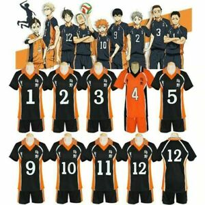 Haikyuu!! T-shirt+Shorts Sportswear Set Cosplay Costumes Karasuno High School