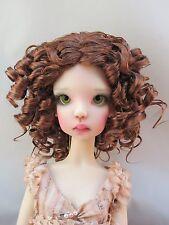 Monique REBECCA Wig Foxy Red Size 7-8 MSD BJD shown on Kaye Wigg Laycee