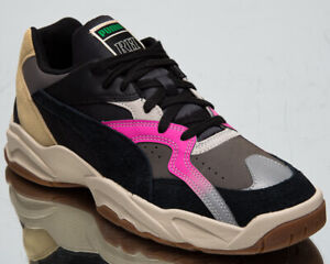 Puma x Rhude Performer Men's Charcoal Gray Black Pink Lifestyle Sneakers Shoes